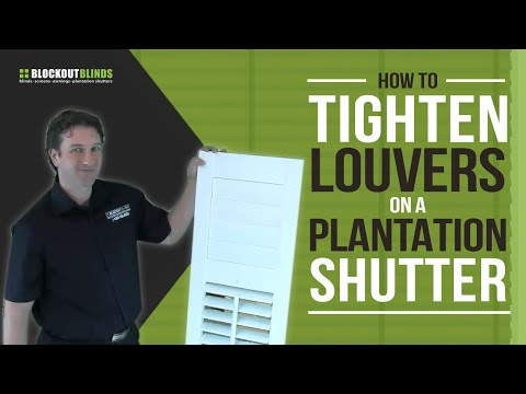 How To Tighten The Louvres On Your Plantation Shutters Youtube