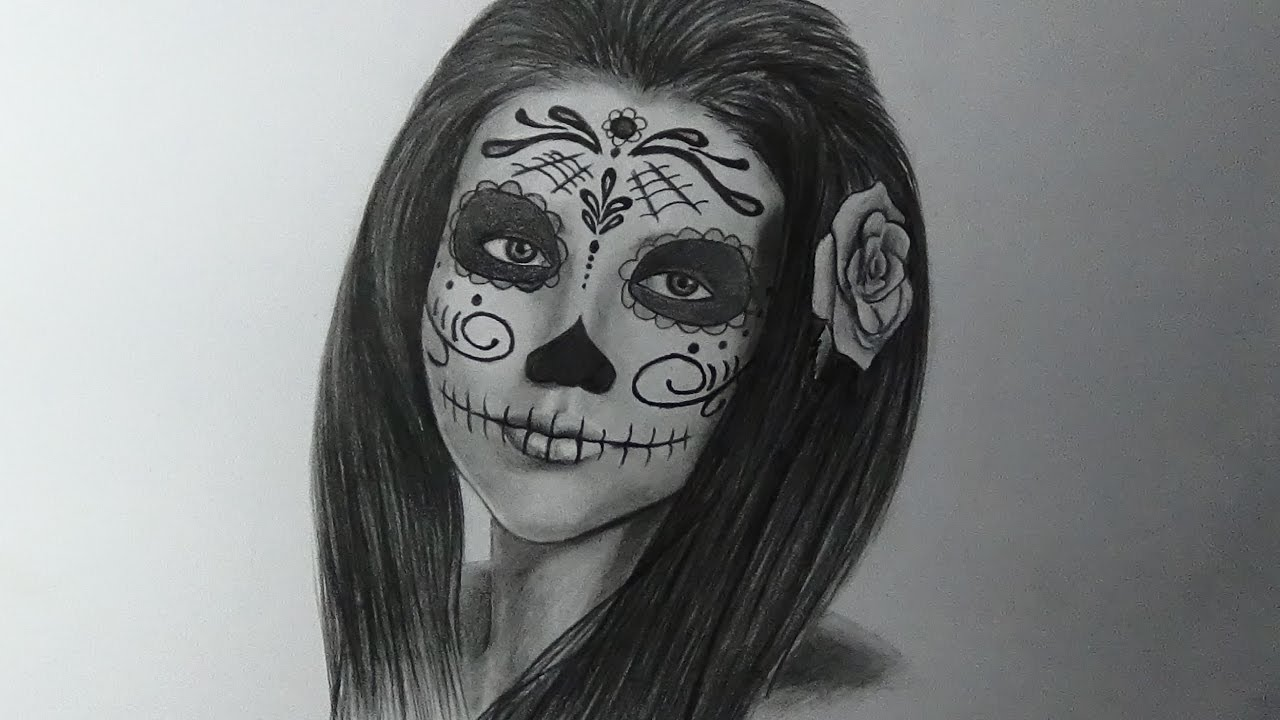 Cómo Dibujo Una Catrina How To Draw A Catrina Speed Drawing