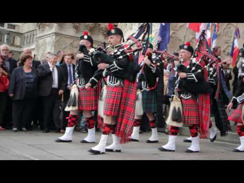 "Rassemblement de pipe-bands ""United Pipers for Peace"" 1916-2016"