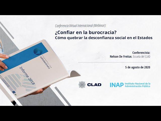 #WebinarCLAD ¿Confiar en la burocracia  Cómo quebrar la desconfianza social en el Estado