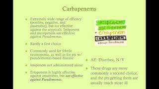 Antibacterial Drugs - CRASH! USMLE Step 2 and 3