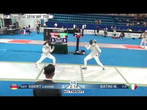 FE W F Individual Shanghai CHN GP 2016 T08 02 green EBERT GER vs BATINI ITA