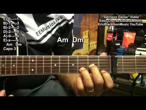 Indila - Dernière Danse Guitar Lesson - French Pop Music