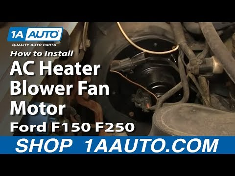 How To Replace Ac Heater Blower Fan Motor 80 96 Ford F150 250 350 Youtube