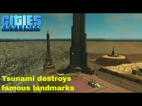 Cities Skylines Tsunami hits Los Santos |