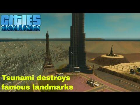 Cities Skylines Tsunami hits Los Santos |