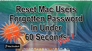 How To Reset Mac OS X Forgotten Password