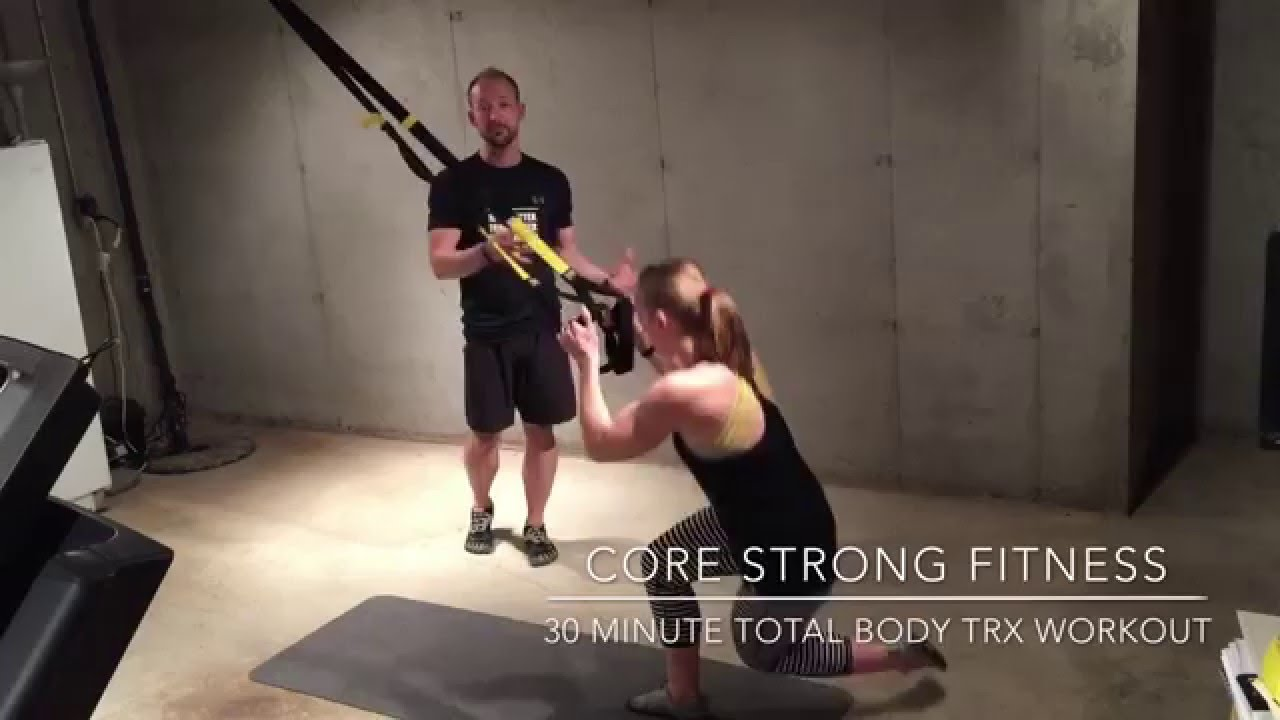picture relating to Printable Trx Workout named 30 moment Comprehensive Human body TRX Exercise session Main Sturdy