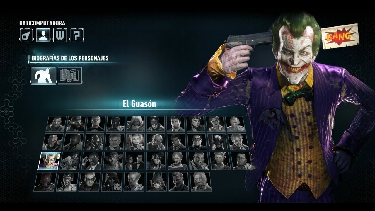 Batman Arkham Knight Biografias De Personajes 3 Youtube