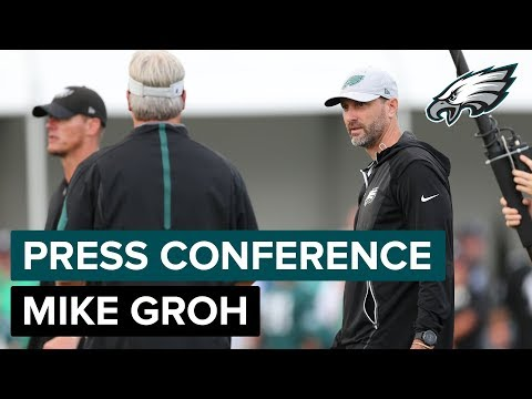 Mike Groh Talks Christian Hackenberg & More | Eagles Press Conference