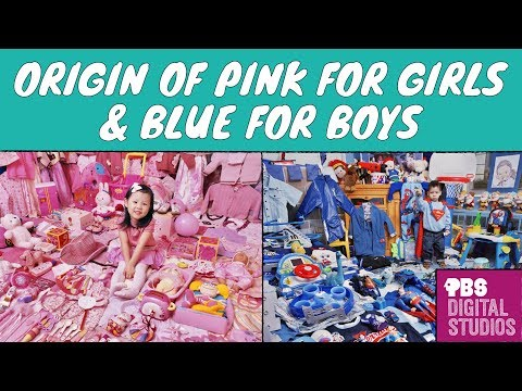 Why was Pink for Boys and Blue for Girls?