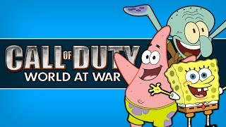 bikini bottom call of duty world at war zombies custom maps mods and funny moments cod waw