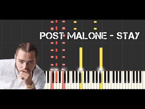 Post Malone - Stay - piano cover - tutorial [advanced] (how to play)