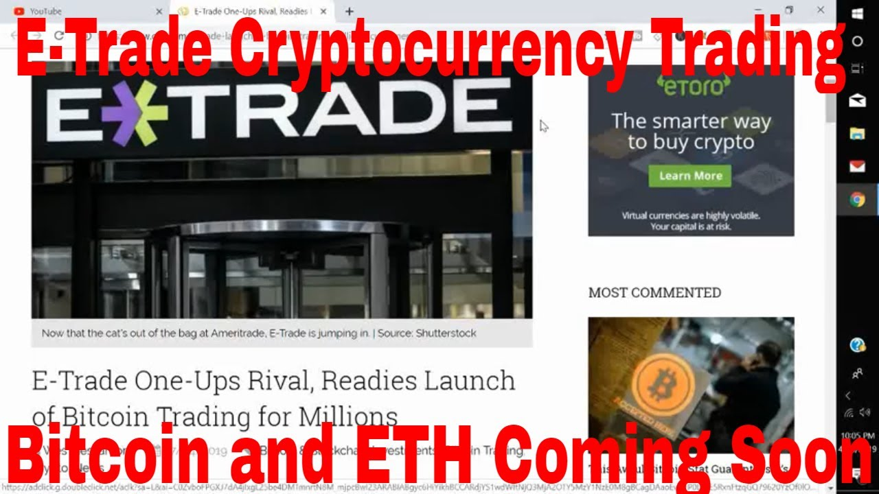 can cryptocurrency be traded on etrade