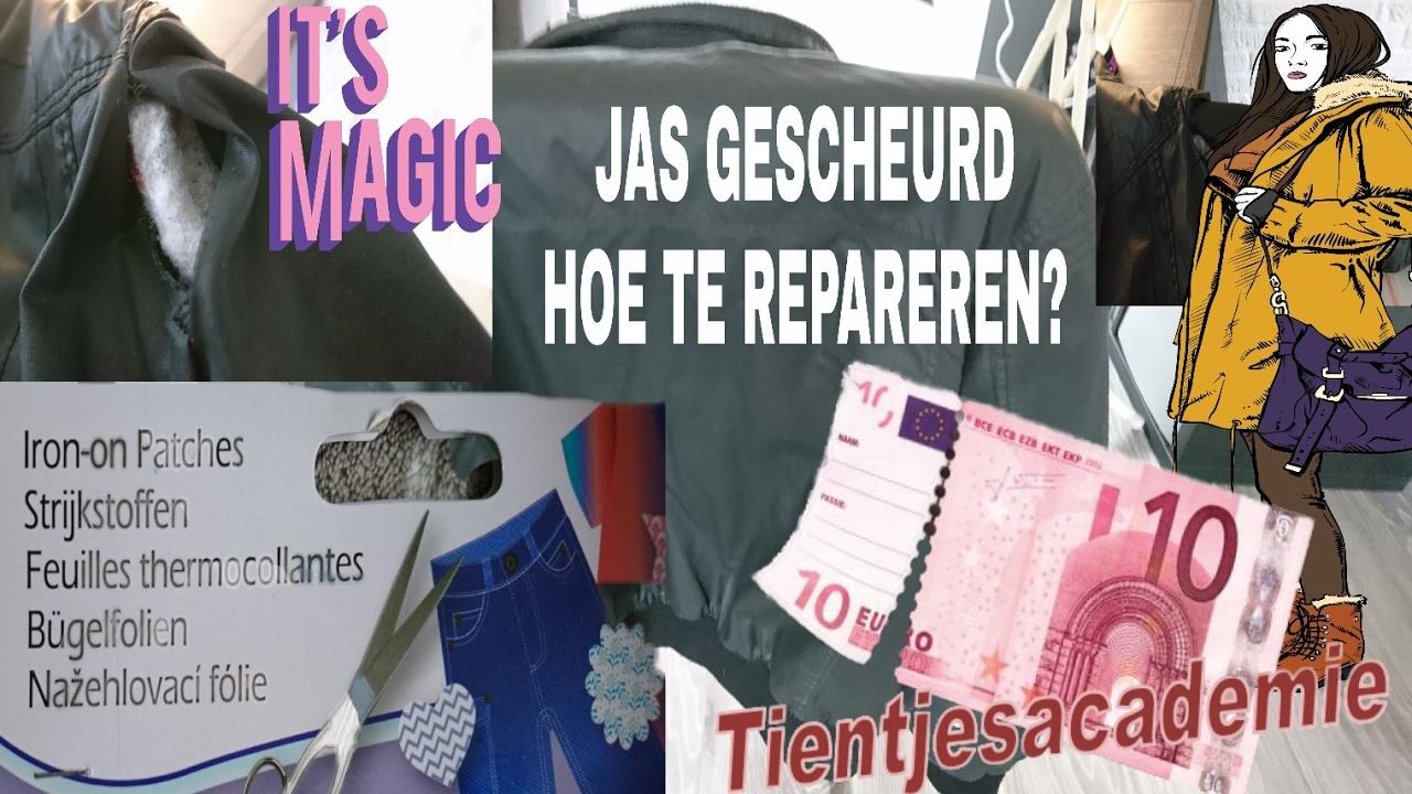Leren Bank Scheur Repareren.Reparatie Scheur In Jas Repair Hole In Jacket Youtube