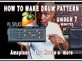 How to Make AmaPiano Drums Under 7 Minutes