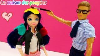 Vidéo en français pour enfants. Marinette change la couleur de ses cheveux pour Halloween