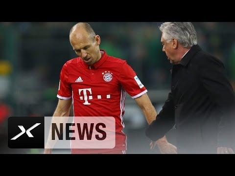 Carlo Ancelotti spielt  Arjen Robbens Ausraster herunter | Borussia M'Gladbach - Bayern München 0:1