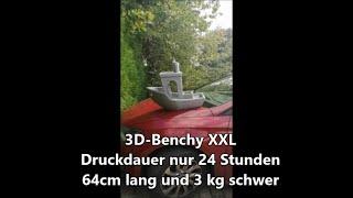 Highspeed 3D Druck XXL 3DBenchy und Metall-Benchy bei Multec