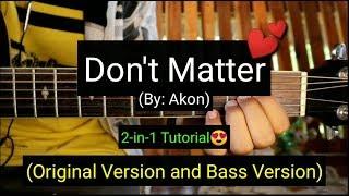 Don't Matter - Akon (Super Easy Chords Guitar Tutorial) Video