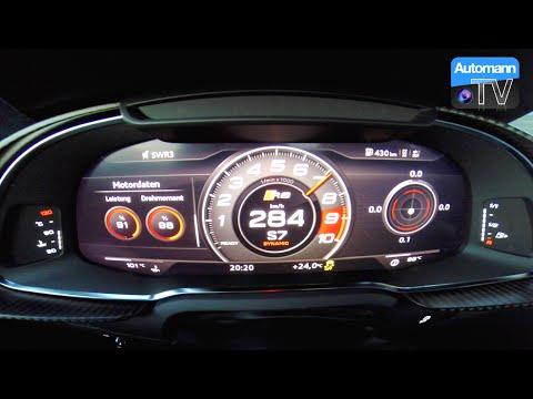 2017 Audi R8 V10 PLUS (610hp) - 0-290 km/h acceleration (60FPS)