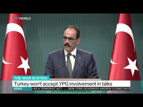 Turkey says won't accept YPG involvement in Syria peace talks