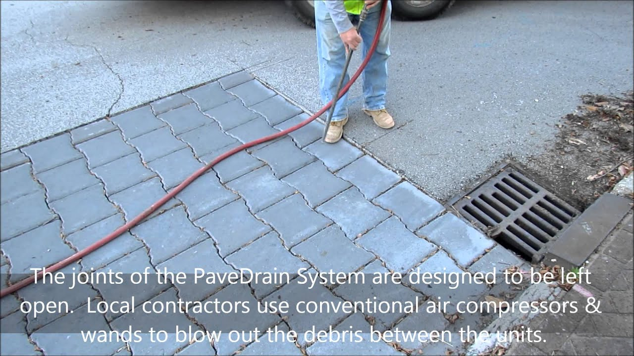 PaveDrain Maintenance - Air Compressor with Wand - YouTube