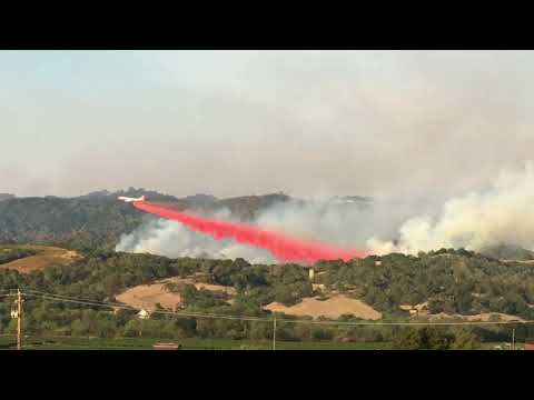 747 SuperTanker to the Rescue @ The Pocket Fire Geyserville, CA 10-11-17