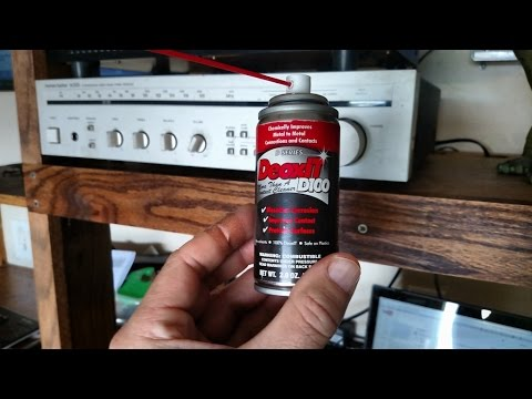 DeoxIT D100 Contact Cleaner on 30-yr old stereo receiver - review / demo