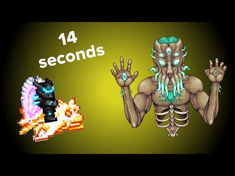 Beating The MoonLord In 14 Seconds, Mobile Record? (Terraria Mobile 1.3)