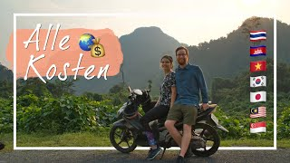 Das kostet eine Weltreise • 6 Monate Backpacking in Asien
