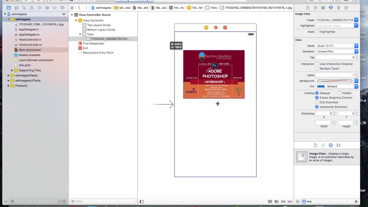 Objective c background image view - How To Add An Image To Your Ios Using Objective C