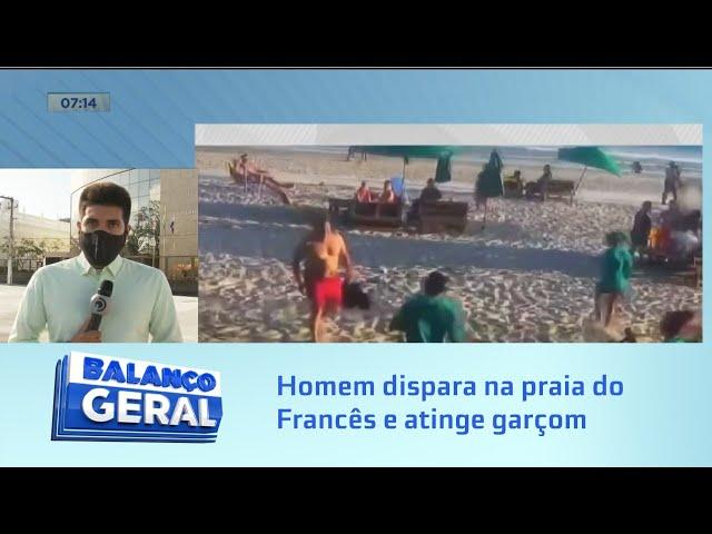 Empresário preso: Homem dispara na praia do Francês e atinge joelho de garçom