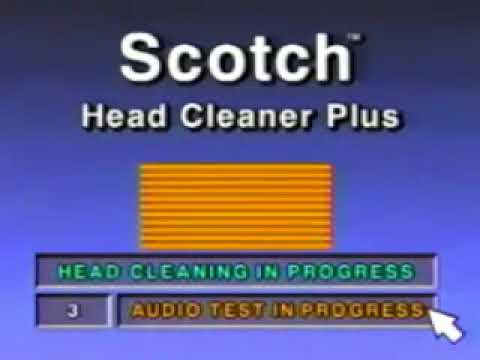 Scotch VCR Head Cleaner Plus Instructional Video1993 360p mirror