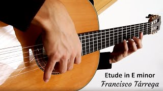 Francisco Tárrega - Etude in E minor - Classical Guitar