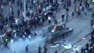 T-34 tank used in Budapest protests 2006