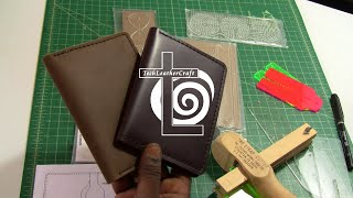 diy tutorial making a leather passport wallet journal holder using brl acrylic template