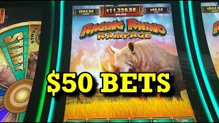 RAGING RHINO RAMPAGE: LIVE $50 MEGA PLAY BETS!