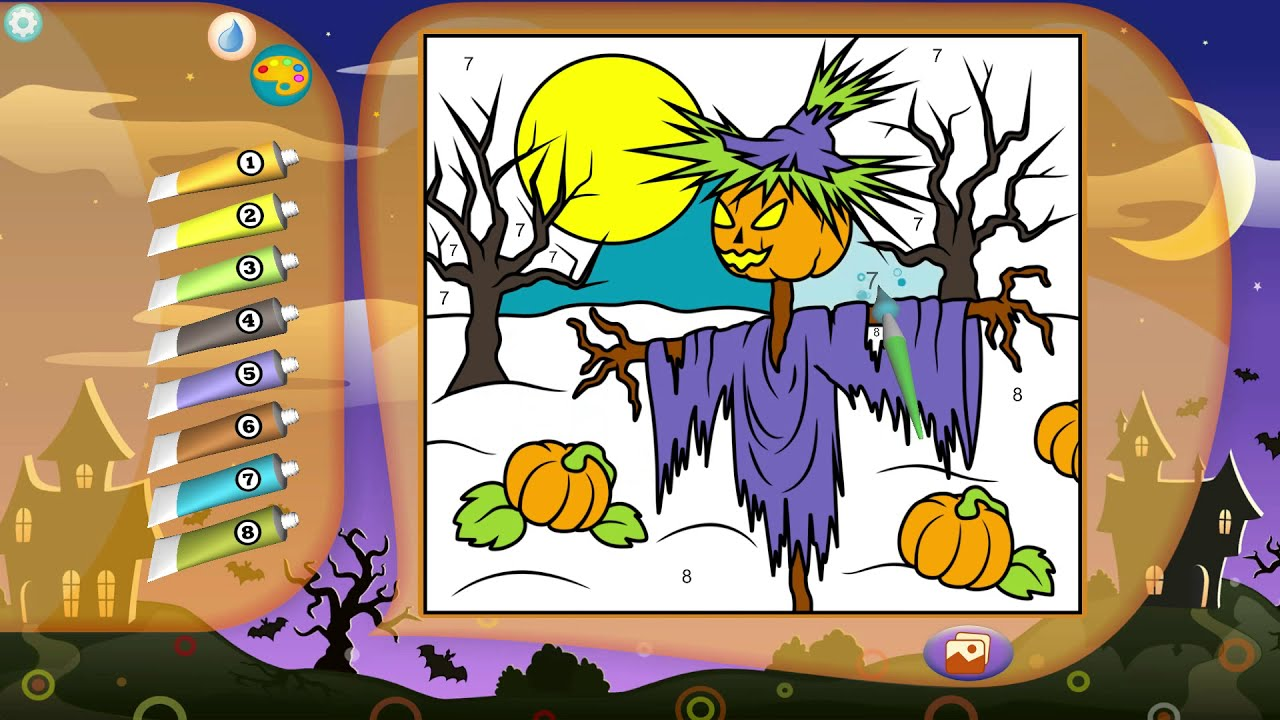 Halloween Color by Numbers | Picture painting color