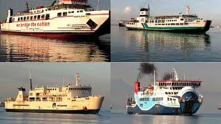 Aktivitas Pagi di Dermaga Pelabuhan Merak Banten - Kapal Mondar Mandir