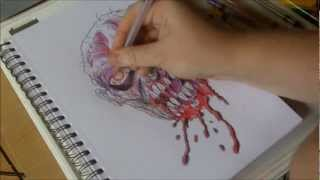 How To Draw A Zombie Halloween Mask (2 of 365)