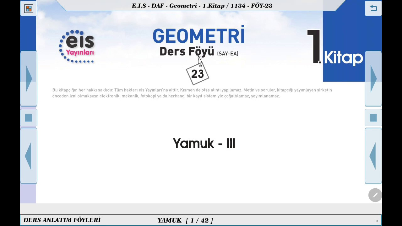 Geometri 1  - Yamuk 3 📘