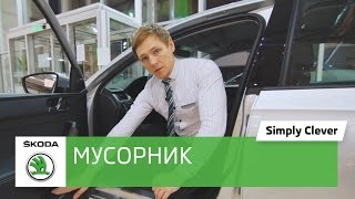 Емкость для мусора Bin for door panel для автомобиля Skoda. Обзор машины Шкода. Автоцентр Прага Авто