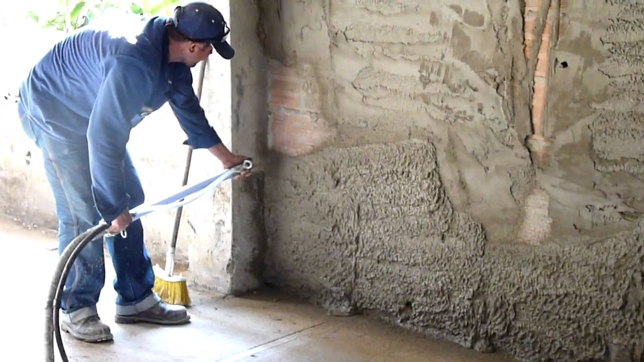 Lanzado de mortero sobre muro en barranquilla colombia for Mortero de cemento