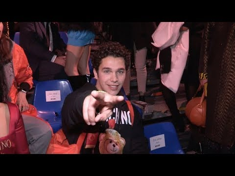 Austin Mahone and more front row for the Moschino Fashion Show in Milan