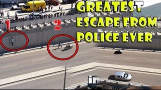 Greatest escape from Police ever , That's ' legend , Escape from Prison with Bike