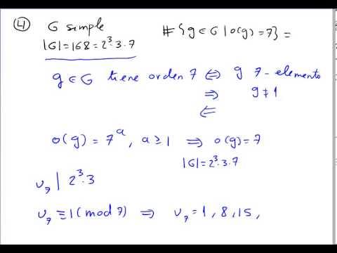 Número de elementos de orden 7 en un grupo simple de orden 168