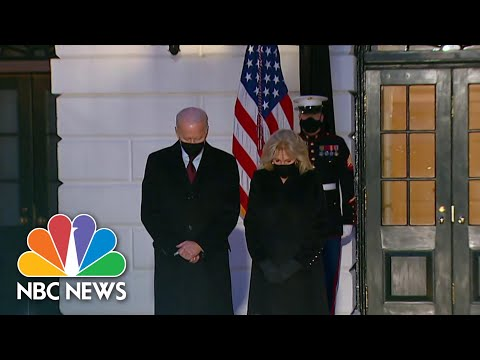 President Biden Observes Moment Of Silence For 500,000 U.S. Lives Lost To Covid | NBC Nightly News
