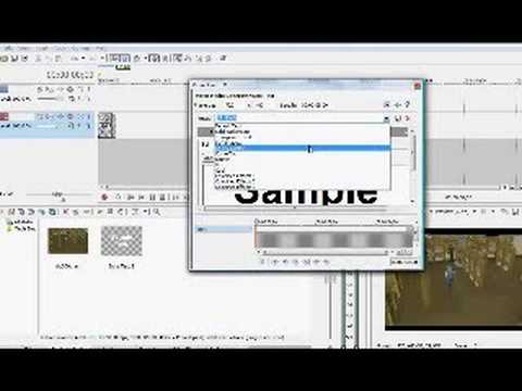 sony vegas how to put an image on a video