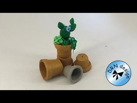 YouTube & Polymer Clay Miniature 1 to 12 - Flower Pot Easy